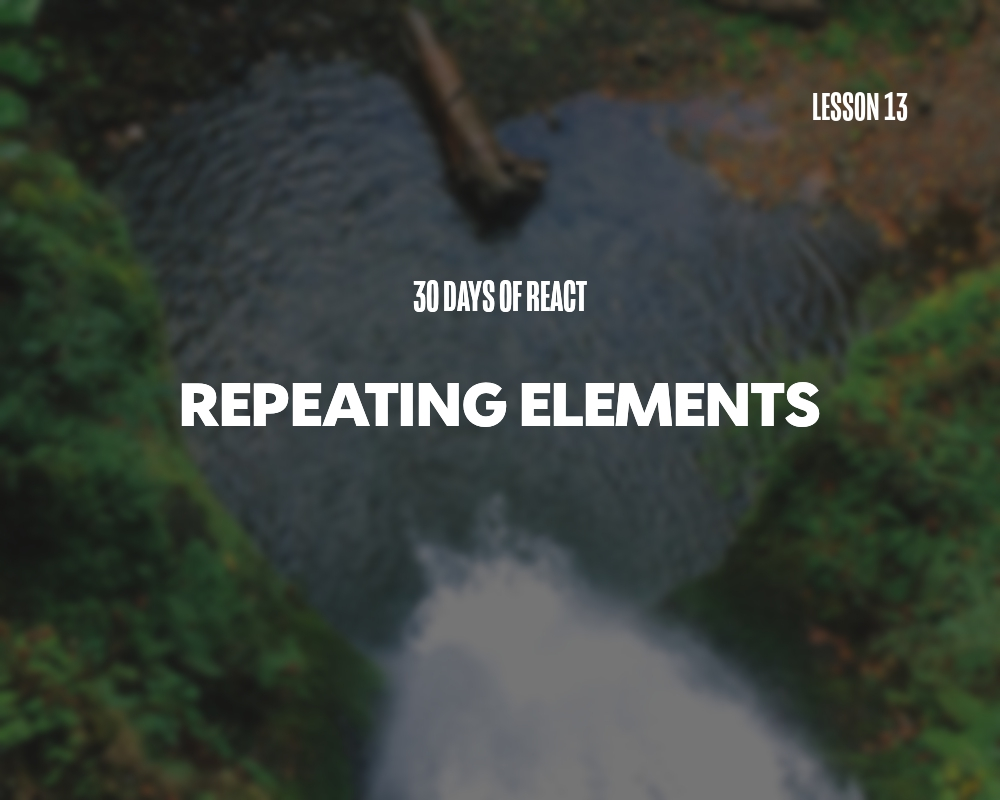 Fullstack React: Repeating Elements