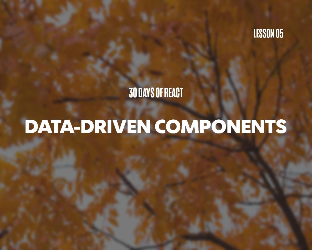 Fullstack React: Data-Driven