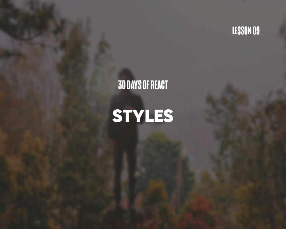 Fullstack React: Styles